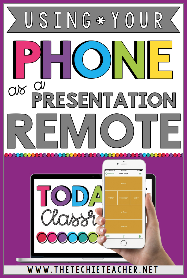 how to use your phone as a presentation remote the techie teacher
