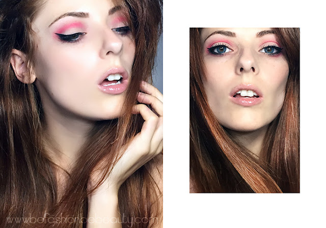Maquillaje para diario en tono rosa.