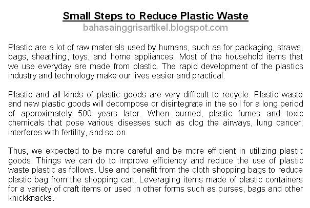 Artikel Bahasa Inggris Artikel Bahasa Inggris Tentang Lingkungan