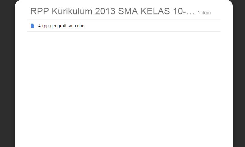 New Revisi Rpp Kurikulum 2013 SMA Kelas 10-11-12 Geografi SMA LengkapTerbaru