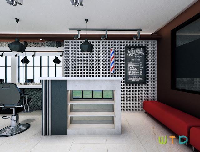 Interior Desain Barbershop Bandar Lampung