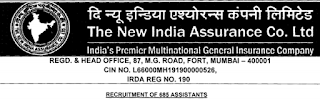 NIACL Assistant Jobs 2018-19 Apply Online for 685 Posts