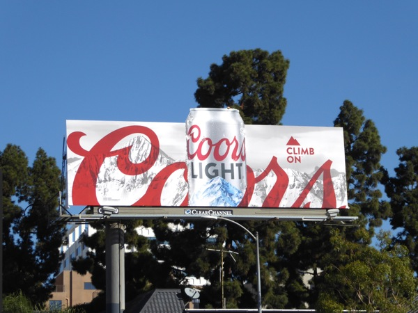 Coors Light special extension can billboard