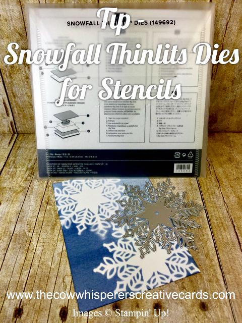 Tip, Snowfall Thinlits Die, Stencil, Sponge Brayer