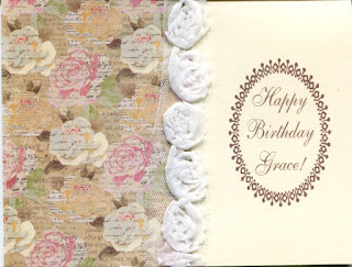 a beautiful birthday card covered in vintage roses. perfect for anyone who loves gardening or flowers