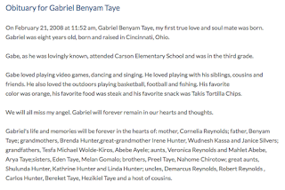 Gabriel Taye Obituary