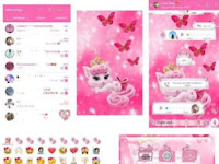 Download WhatsApp MOD Pink Kitty v6.40