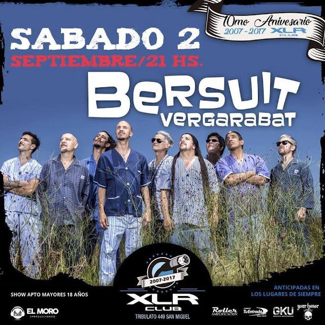 "La Bersuit presenta ""La Nube Rosa"" en XLR Club"