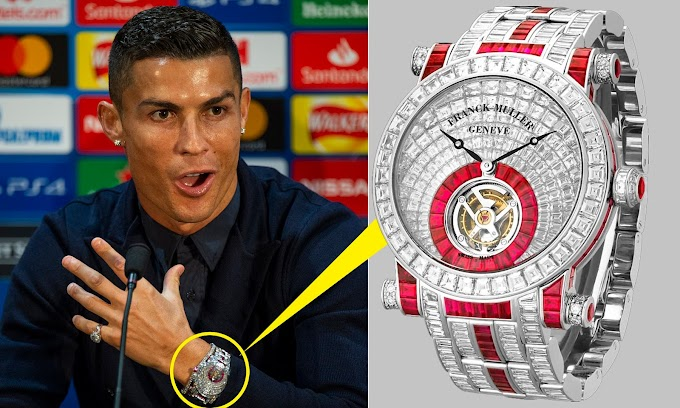 SPORTS: Cristiano Ronaldo ready to sparkle against old club Manchester United as Juventus star shows off incredible £1.2M diamond watch at media conference