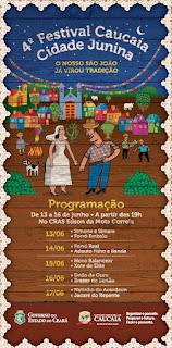 4º Festival Caucaia Cidade Junina começa nesta quarta