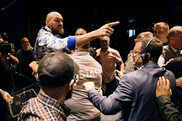 Tyson Fury and Deontay Wilder Brawl at Press Conference
