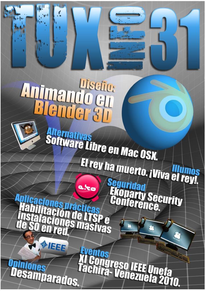 TuxInfo Nro. 31 – Diseño: Animando en Blender 3D