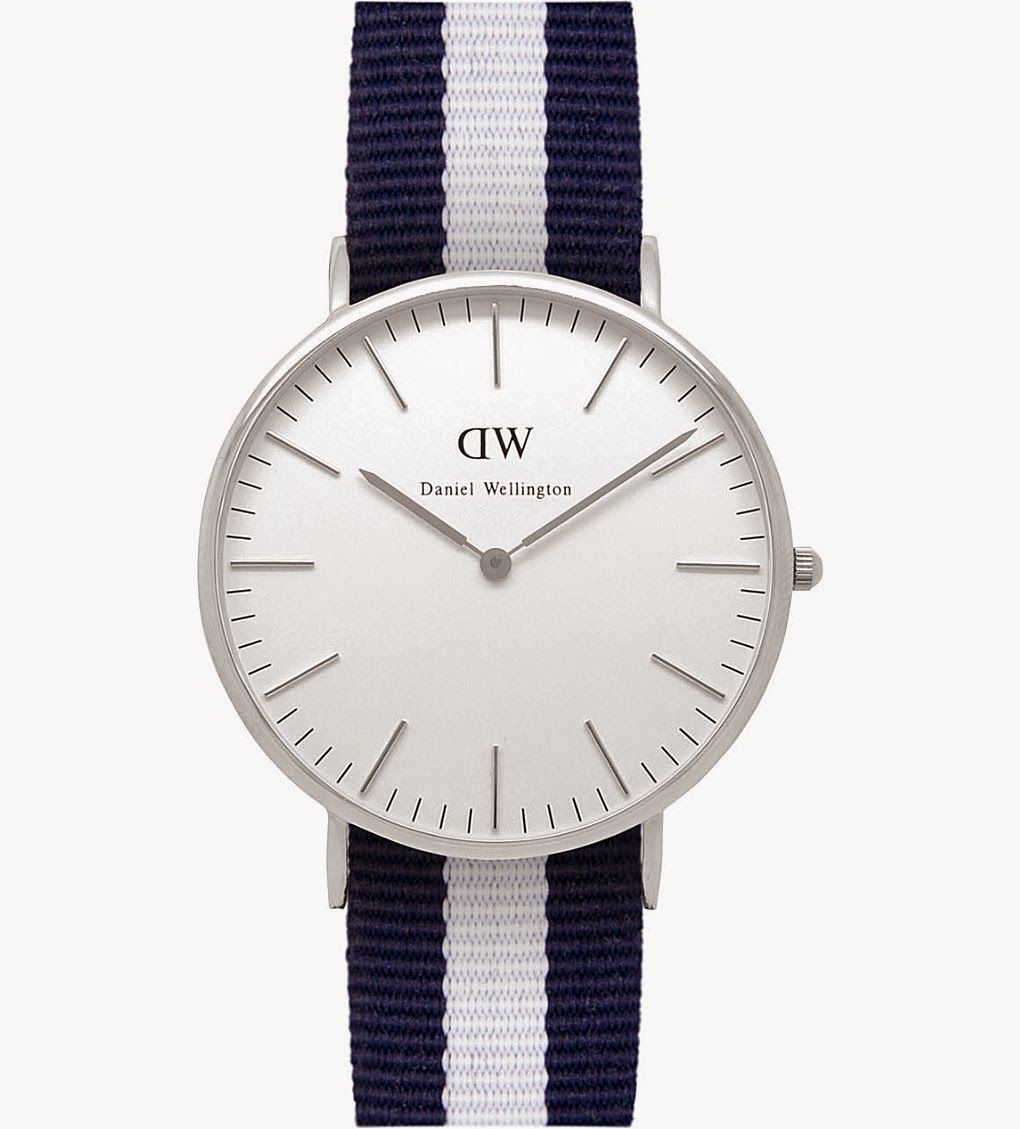 Daniel Wellington blue and white stripe Glasgow Watch