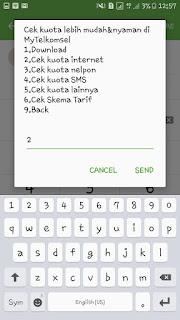 Cek kuota telkomsel menggunakan dial-up bagian 3