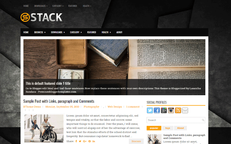 Stack Free Blogger Template