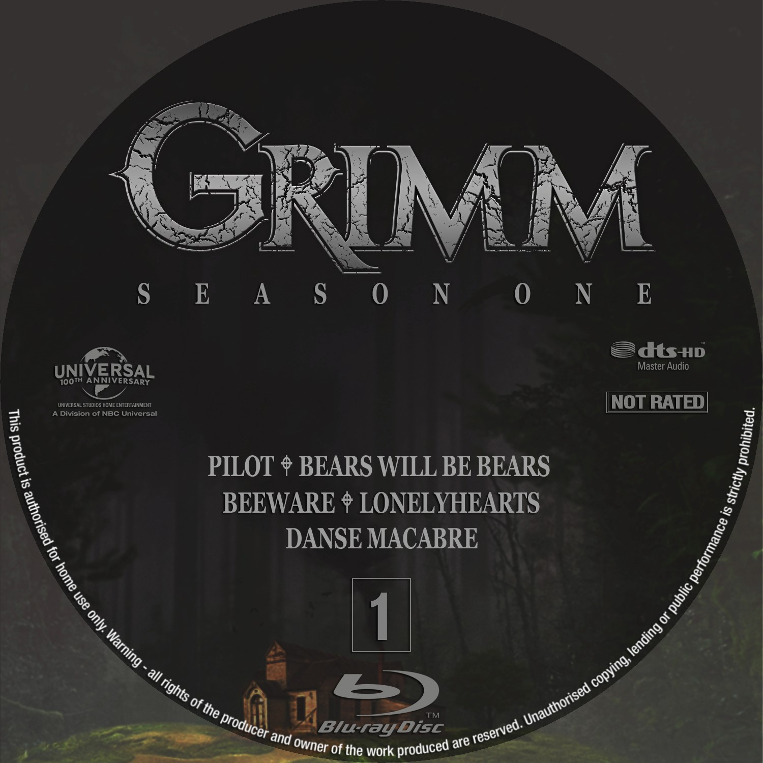 Label Bluray Grimm Primeira Temporada D1 a D5
