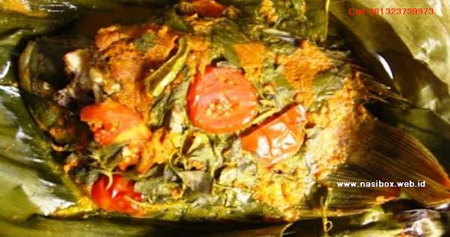 Resep pepes ikan gurame-nasi box cimanggu ciwidey