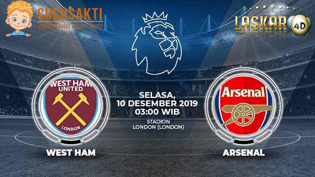 Prediksi Pertandingan Bola West Ham United Vs Arsenal 10 Desember 2019