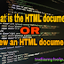 What is the HTML document ? | Create and save an HTML document | View an HTML document