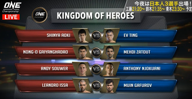 Kingdom OF Heroes Main Card minis title bouts