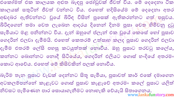 Sinhala Fun Stories-Cat-Part One