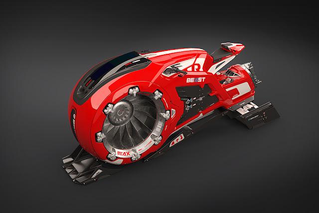 the Beast Hover Bike 🏍
