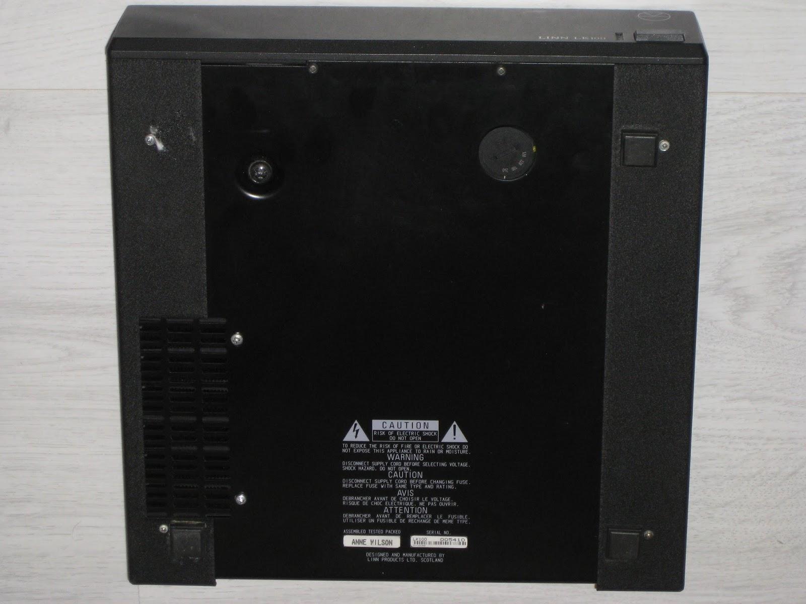Infrequent Sound [sex.tex] technology: Linn LK100 Power Amp, 1996 ...