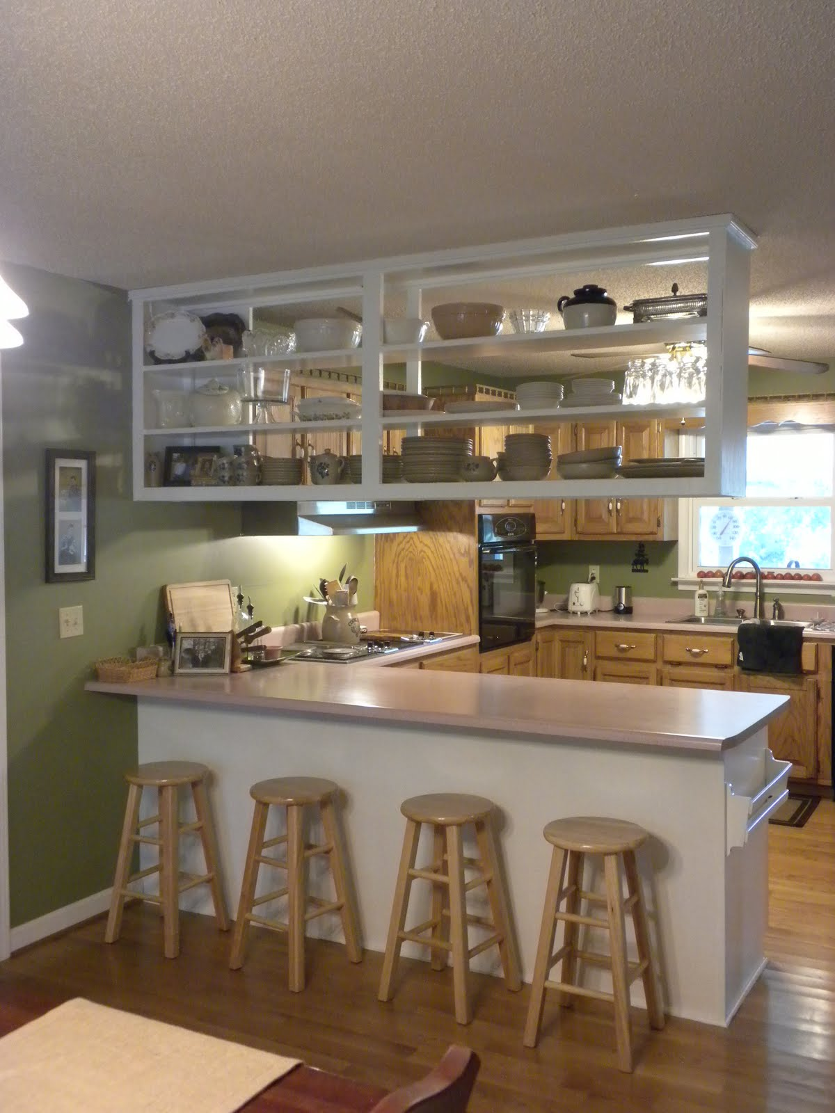 A Meek Perspective Before  After Upper Kitchen Cabinet