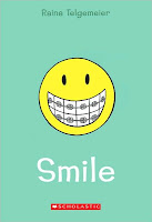 book cover of Smile by Raina Telgemeier graphic novel