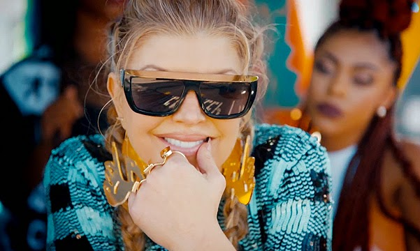 Fergie unveiled the clip for the song L.A. Love