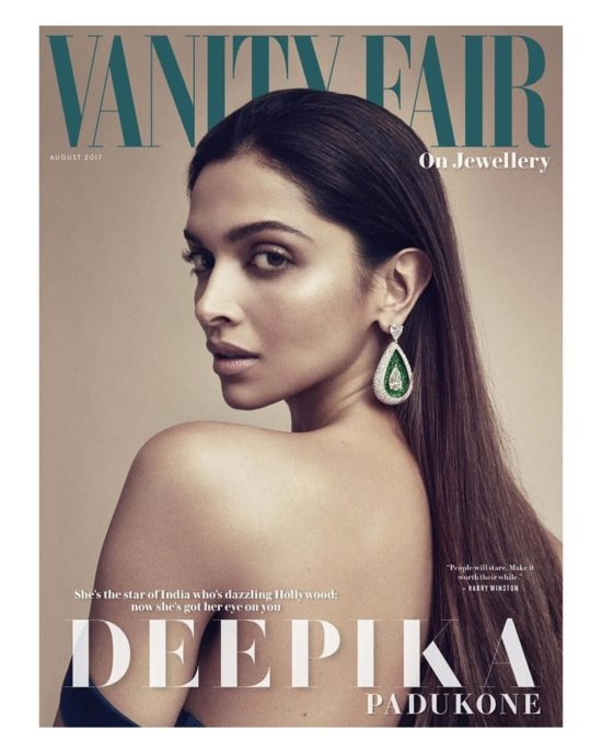 Deepika Padukone Features on The Cover of Vanity Fair UK August 2017