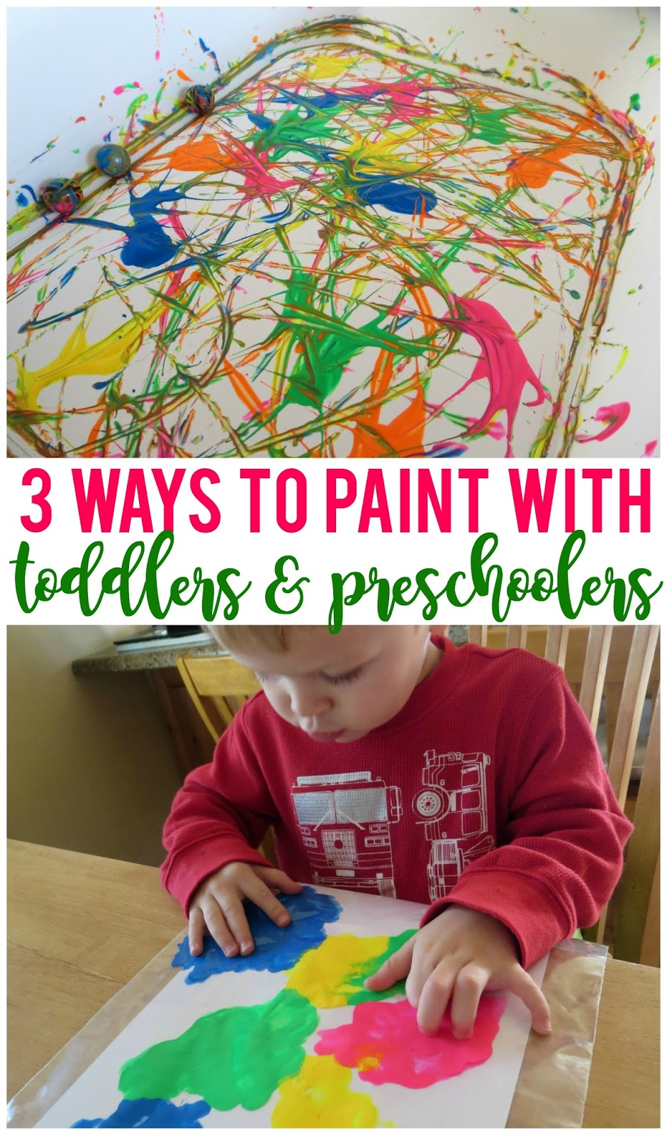 3 fun ways to paint with toddlers and preschoolers sunshine and