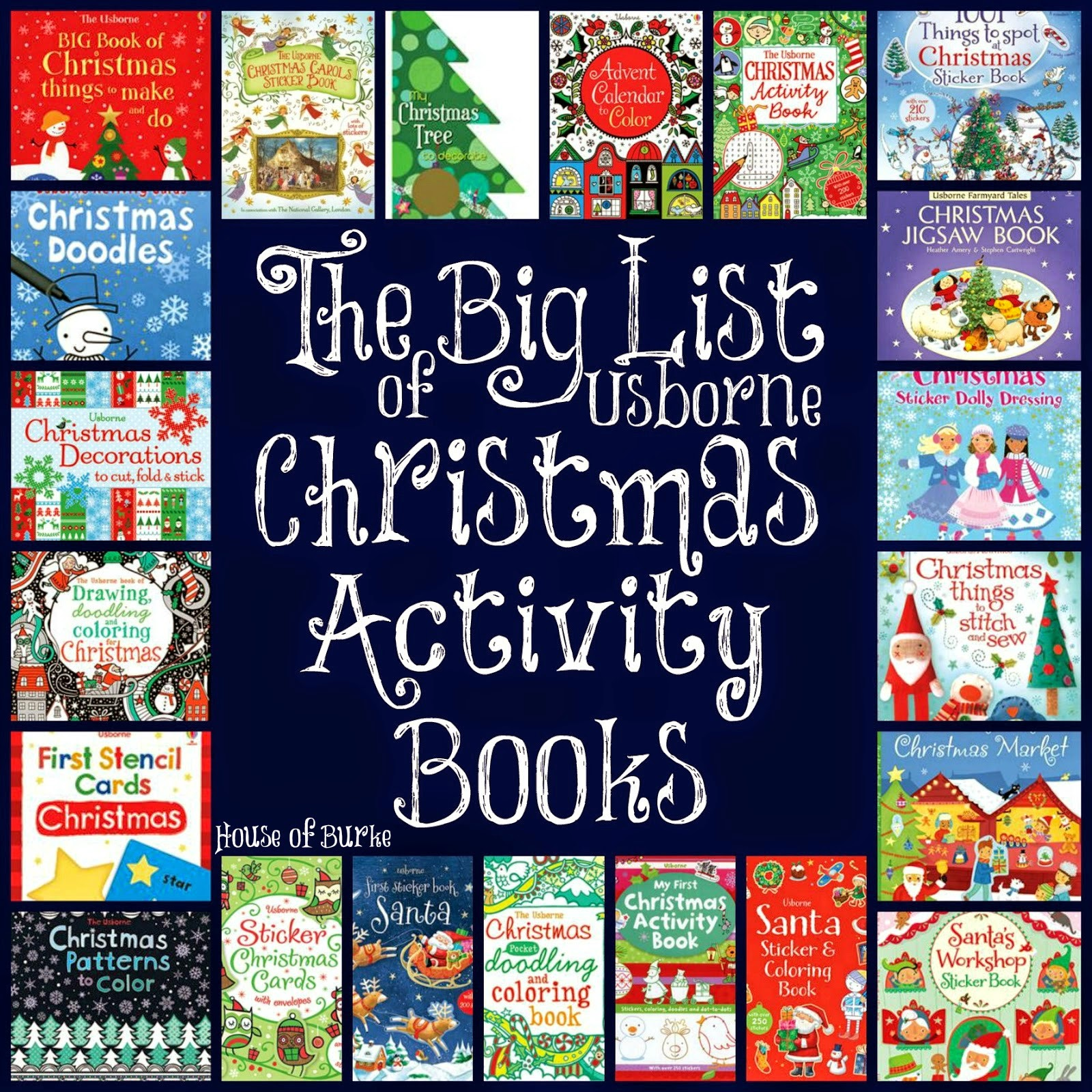 House Of Burke November 2014 Sticker Activity Books My Big And Mighty Tis The Season To Find Amazing For Your Kiddos Around Here We Read Christmas All December Long I Was So Excited See That Usborne