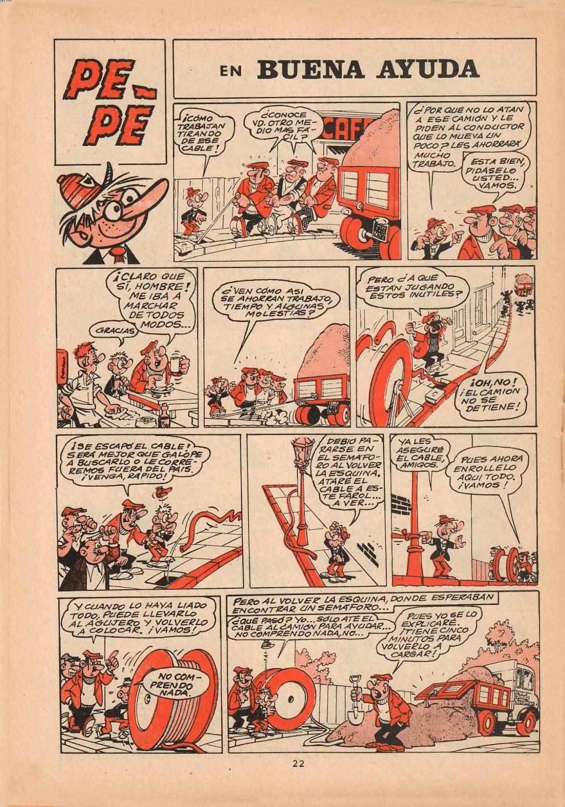Pepe (Nosey) por Cerdan, publicado por Selecciones de Jaimito nº 148