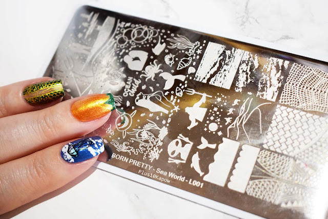 Born Pretty Store L001 stamping plate Aquaman Nerdy Nails