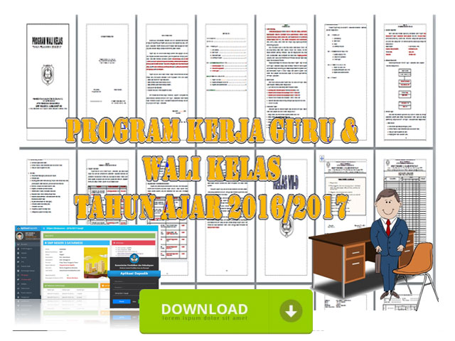 Program Kerja Guru Wali Kelas Format Words
