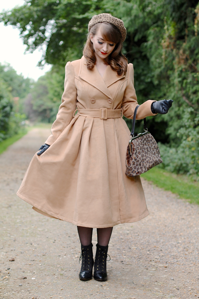 Hearts & Roses London beige camel 50s style swing coat review