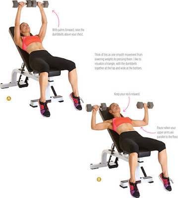 women's health - INCLINE DUMBBELL PRESS
