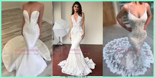 Vestidos de Noiva com Cauda de Sereia