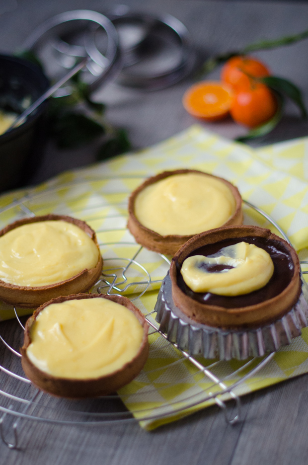 Tartelettes clémentines chocolat