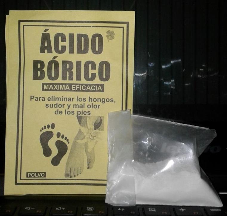 Como se prepara el acido borico para los pies