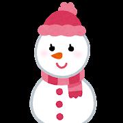 雪だるまのキャラクター(女性)