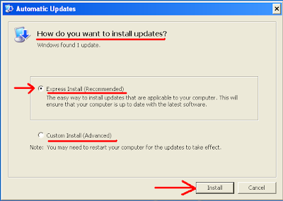 Automatic-Updates-recommended-express-install-and-advanced-custom-install-options