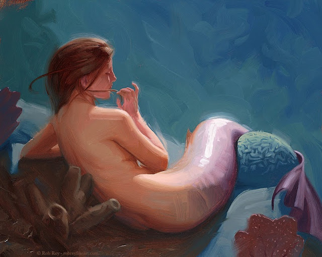 Mermaid I by Rob Rey - robreyfineart.com