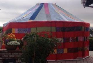 contoh pembangunan tenda cone dari pipa paralon