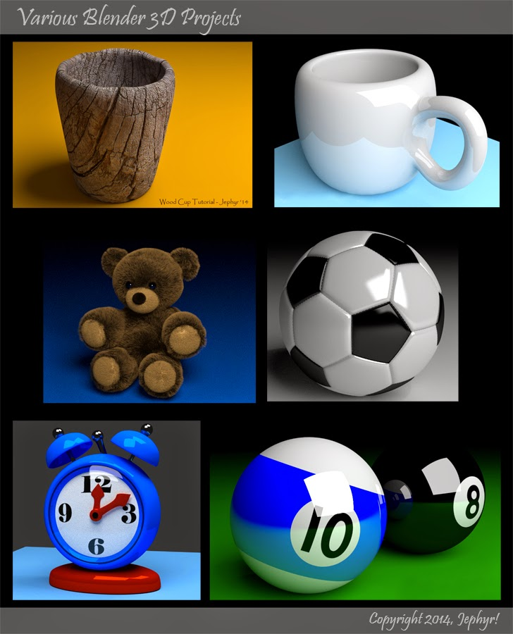 Various Blender 3D Projects - Copyright 2014, Jephyr