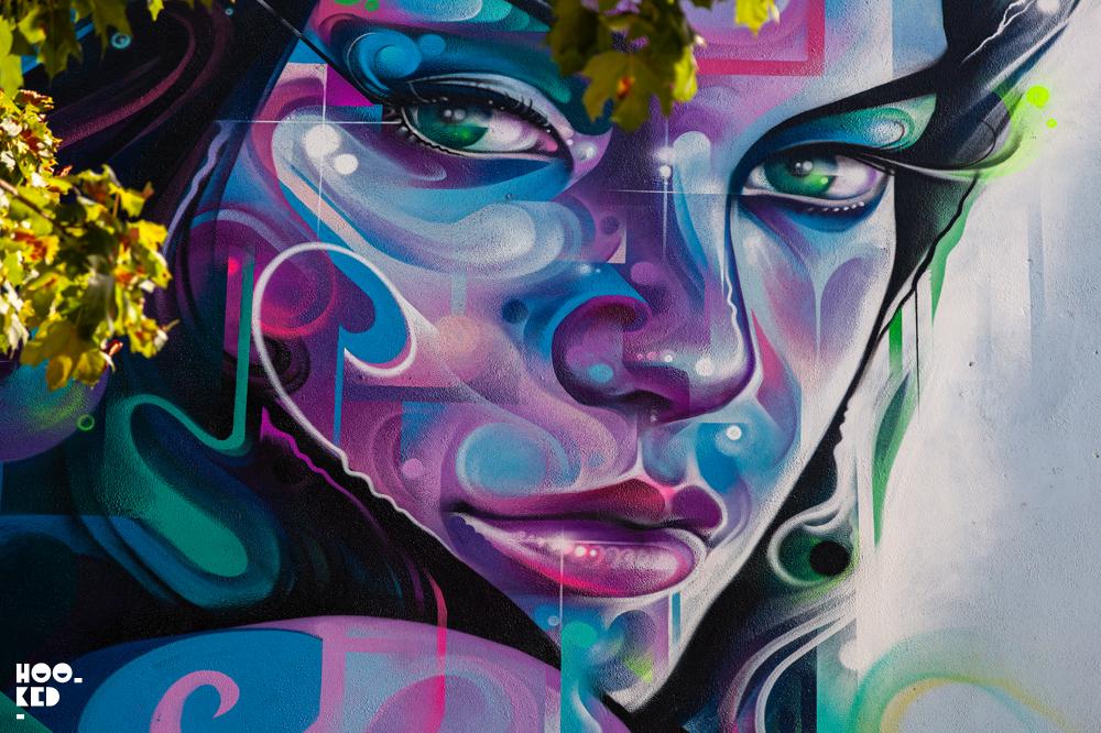 Waterford street art festival,mural by London based street artist Mr.Cenz