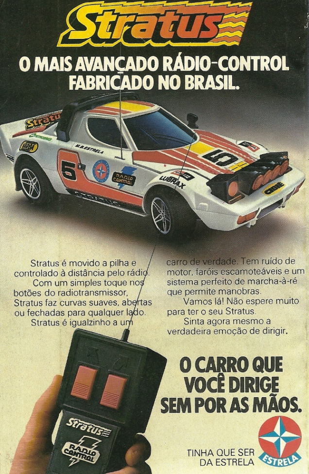 Propaganda do carro de controle remoto da Estrela, apresentado no final dos anos 70