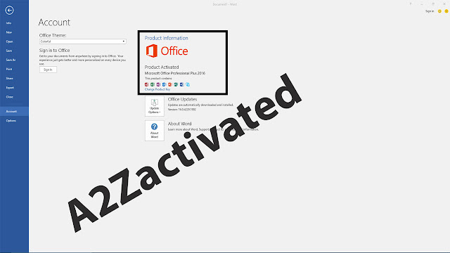 Microsoft Office 2016 Activated
