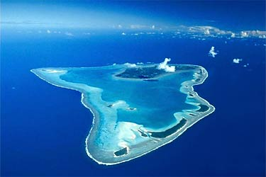 an aerial view of Aitutaki